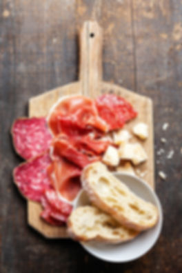Ham, Salami and Cheese Board