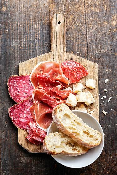 Schinken, Salami und Käse-Vorstand