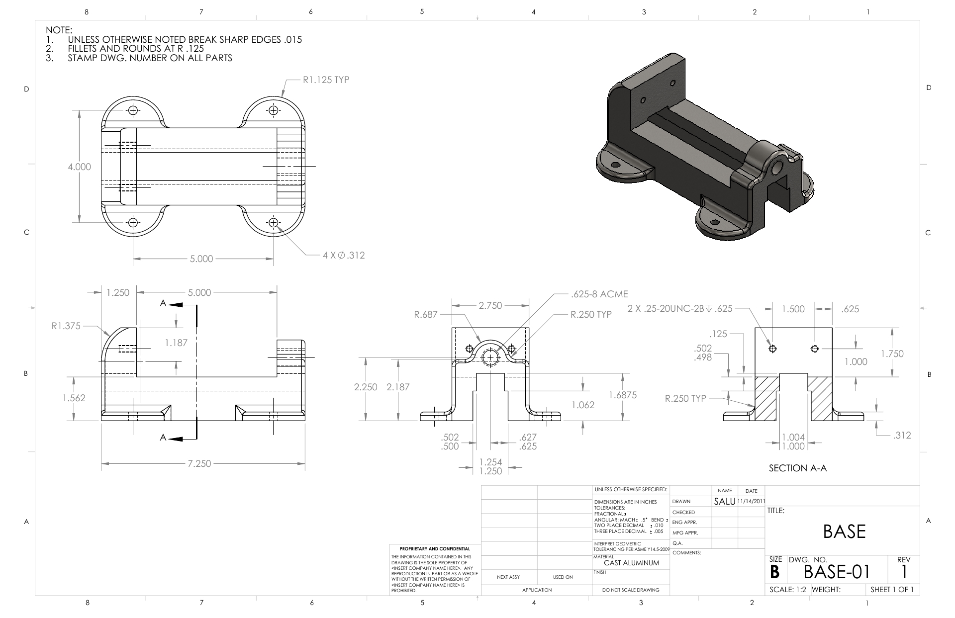 SolidWorks | 2D Drawings