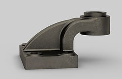Offset Bearing (CAD Rendered In SolidWor