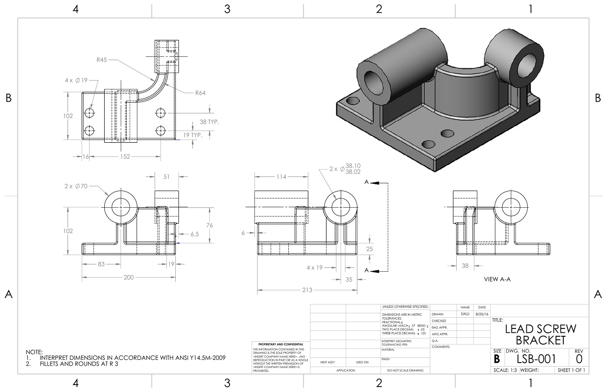 2D Drawing | SolidWorks