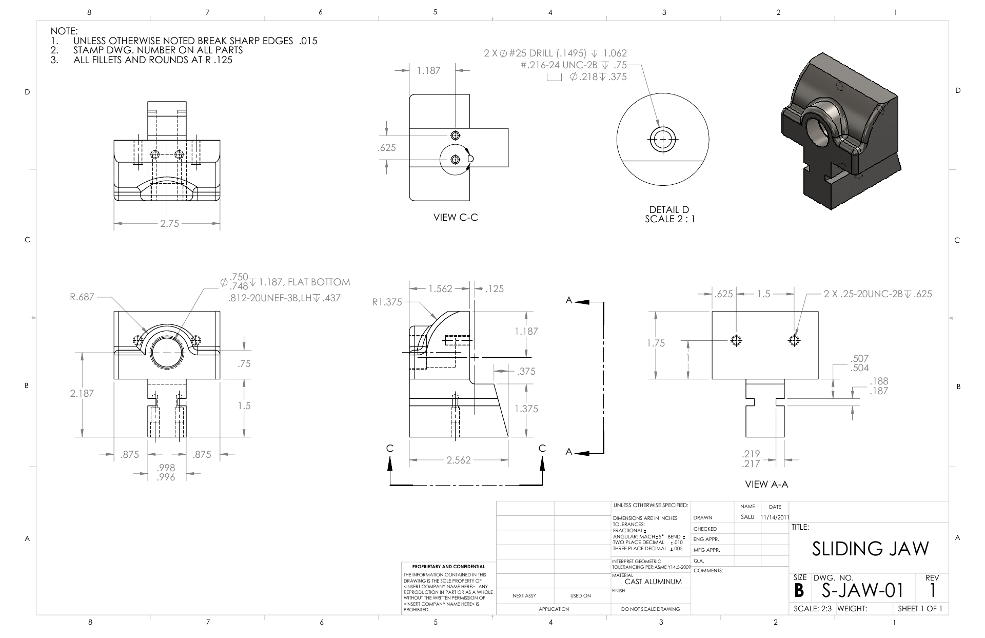 Design Using CAD | 2D Drawing