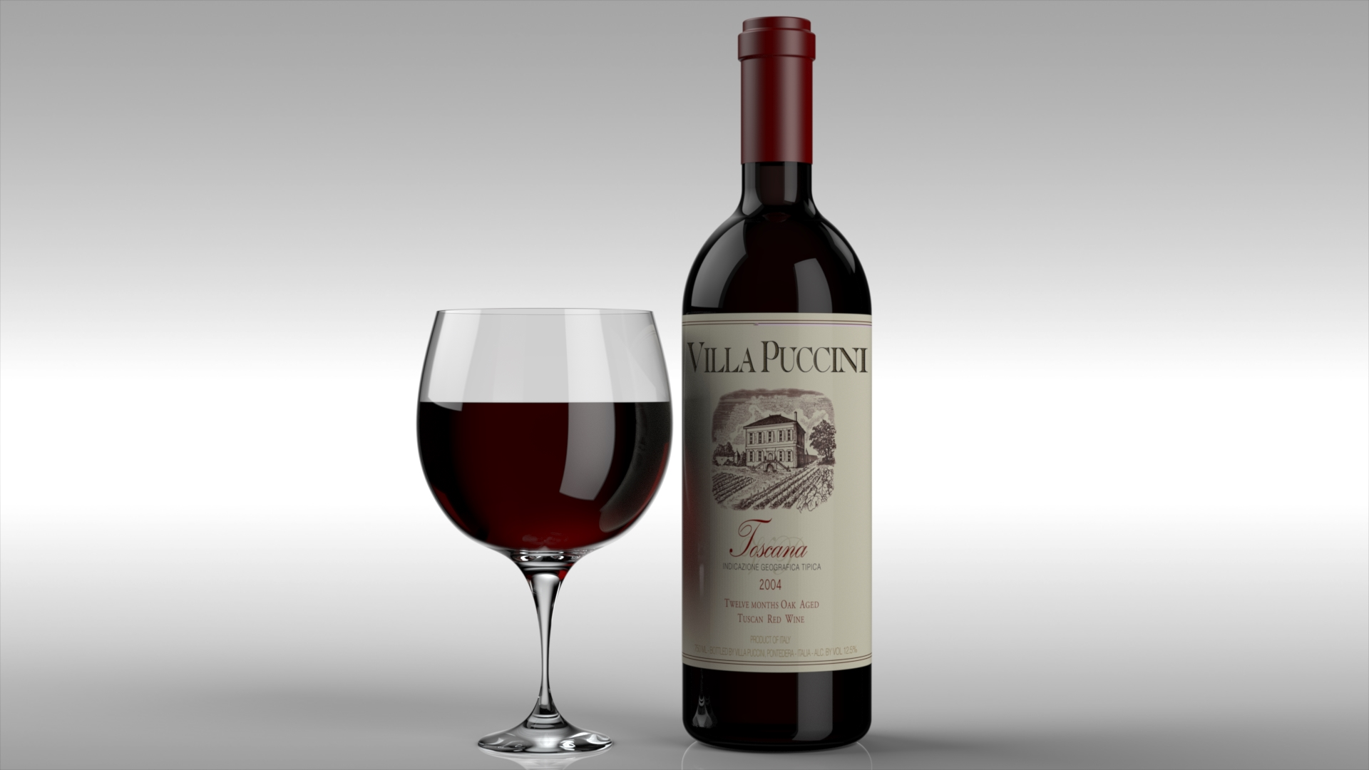 Red Wine | Photo-Realistic Rendering
