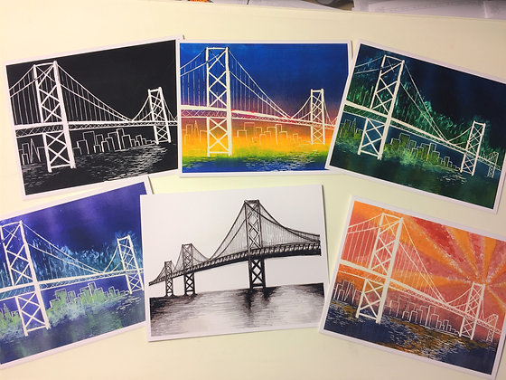 Set #7 - Bay Bridge - 6 cards