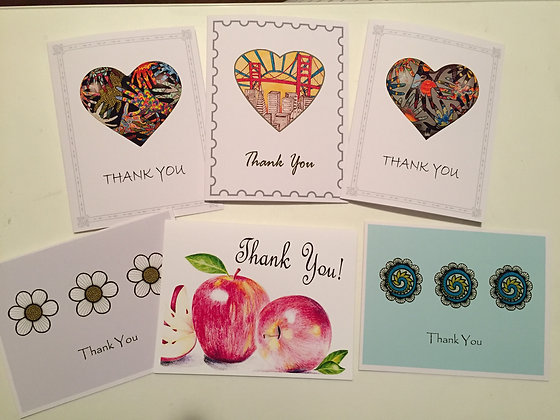 Set #10 -  Thank You - 6 cards