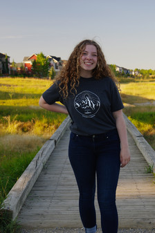 Ayden - wearing the Mountain Tshirt