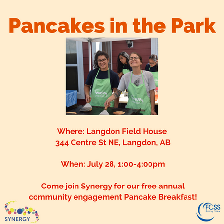 Come join us for Pancakes in the Park!