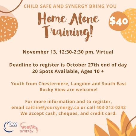 Register for the Home Alone course!