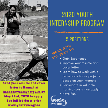 2020 Youth Internship Program is now accepting applications!