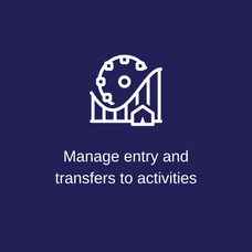 Manage entry & transfers to activities