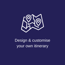 Design & customise your own itinerary