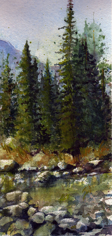 Pines and Mountain Study