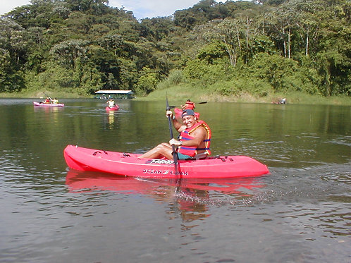 Kayaking at Arenal Lake
