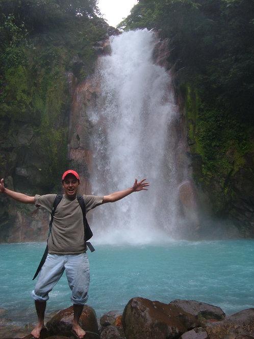 Hiking to Rio Celeste Waterfall in Tenorio Volcano