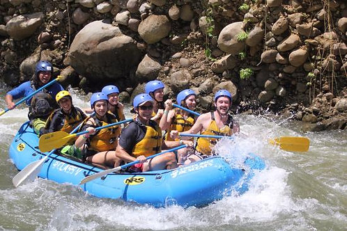 Half day Rafting at Peñas Blancas River class II and III for families