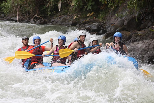 Rafting class III or IV & Canopy zip lines with 1 Rappel