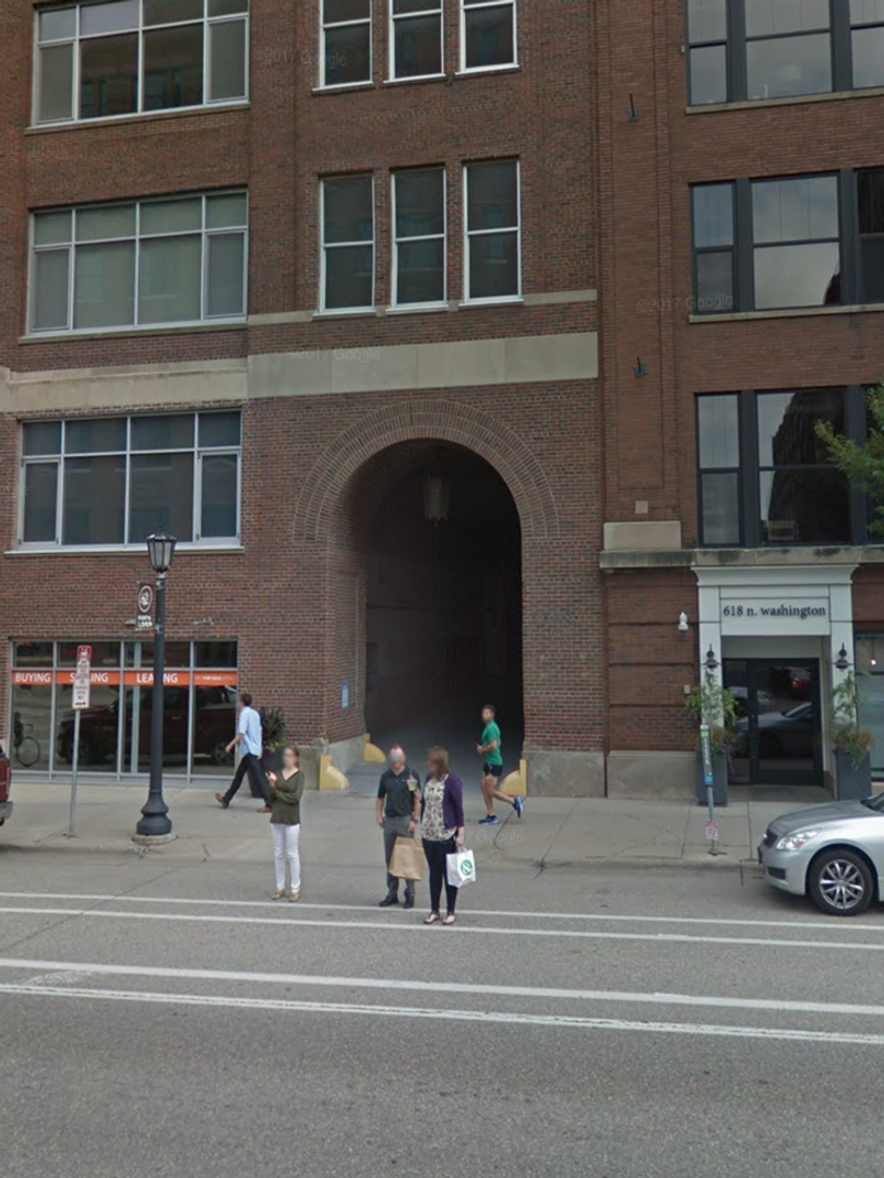 Tower Lofts : front of building facing Washington Avenue North. (The Tunnel)