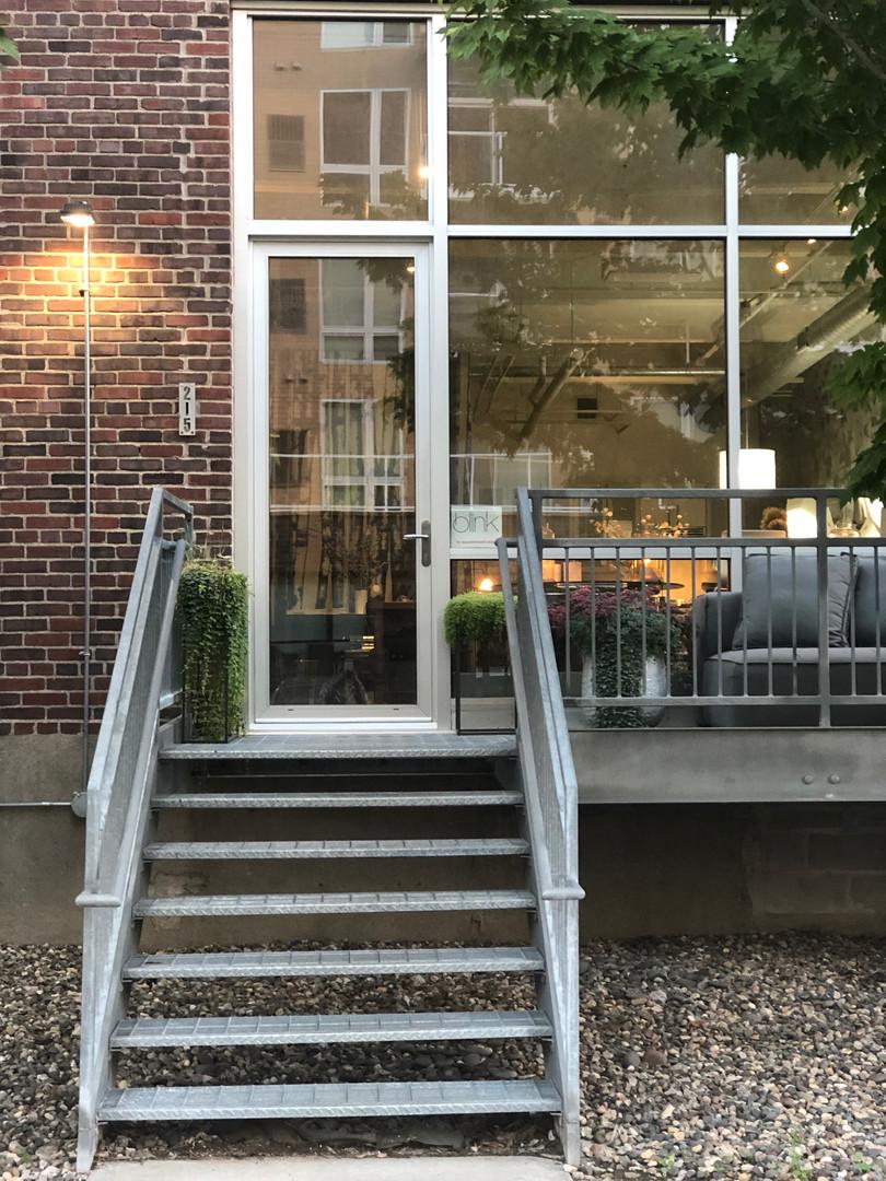 Blink Studio #215, Stairway entrance.