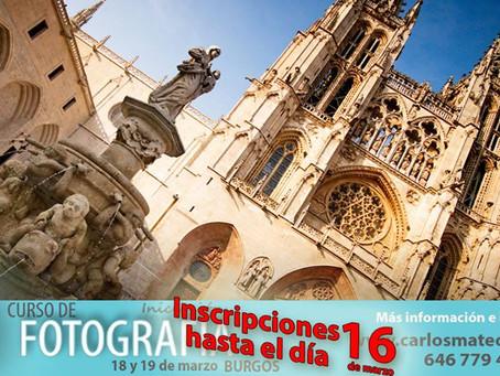 Inscripciones hasta el 16 de marzo del Curso de Fotografía en Burgos