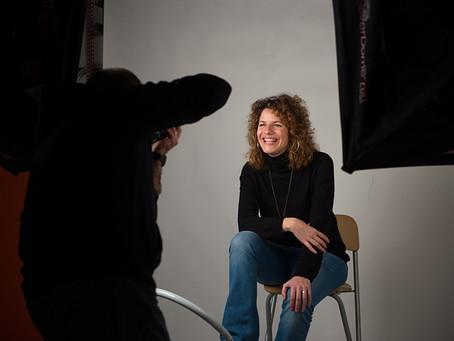 Aula de fotografia de retrato