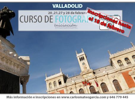 Curso de Fotografía en Valladolid (iniciación)