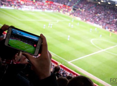 Sesión fotográfica en el mundo del fútbol
