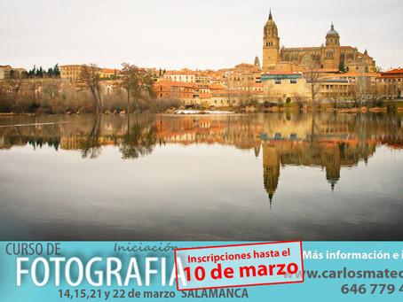 Últimos días para la inscripción al Curso de Fotografía en Salamanca