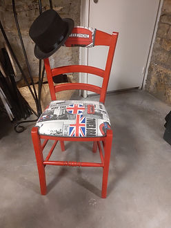 Chaise Red London