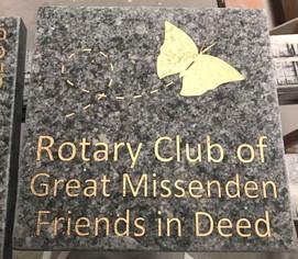 Rotary Club dedication stone