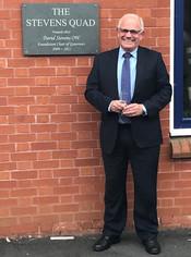The Stevens Quad plaque - Warwick School