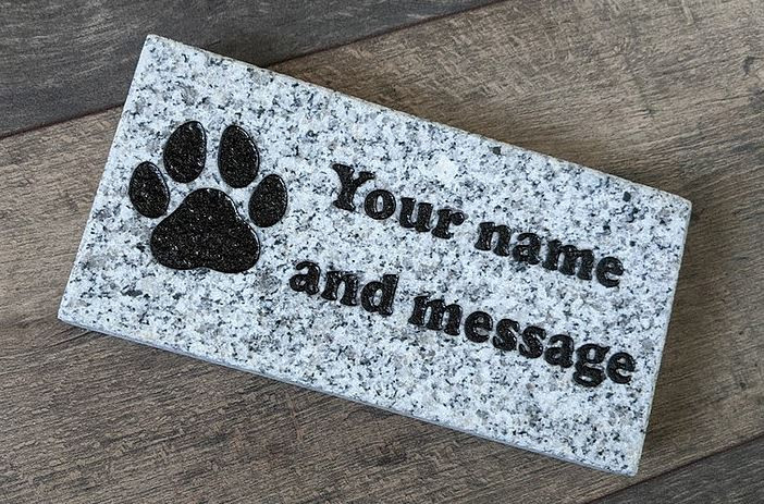 Donation recognition granite paver