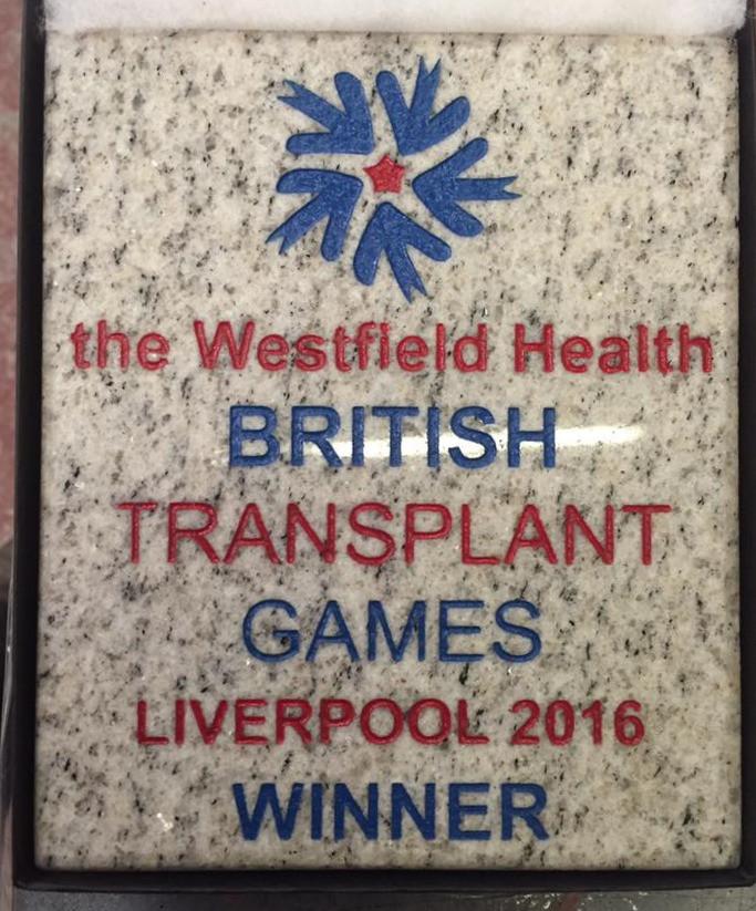 Grey granite winners plaque