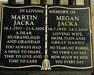 Jacka memorial - After