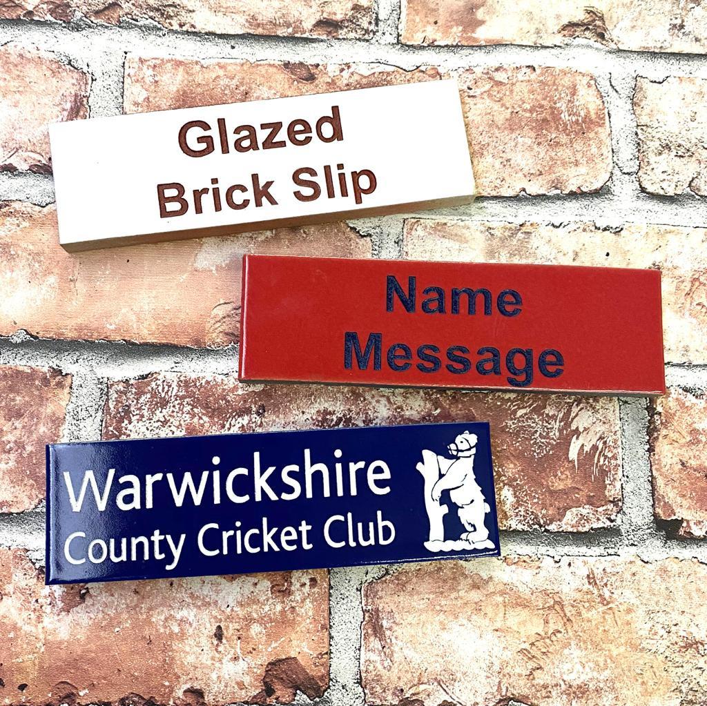Glazed brick slips