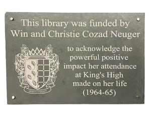 Warwick School dedication plaque