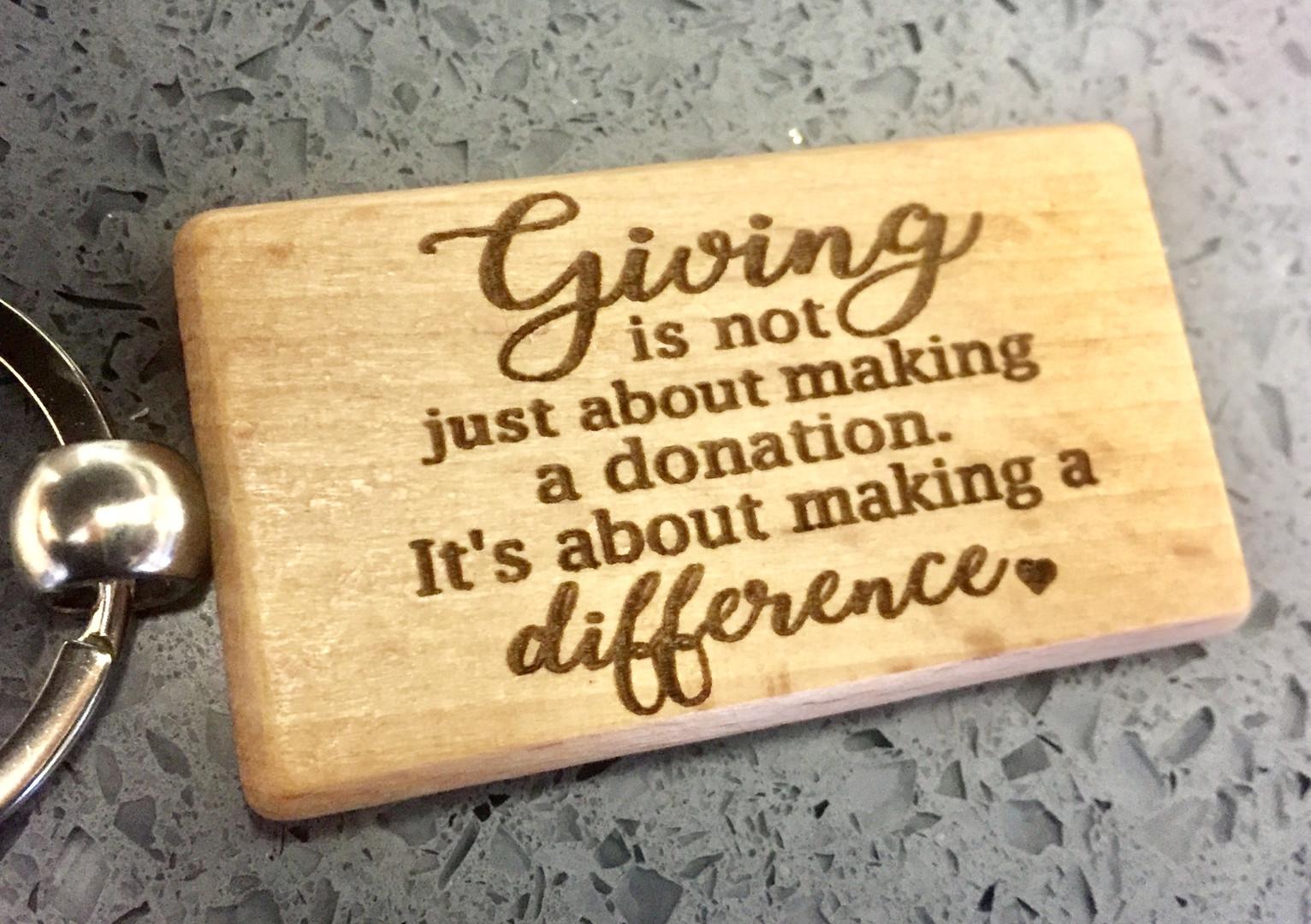 Fundraising keyrings