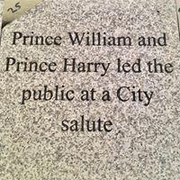 Grey granite dedication stones