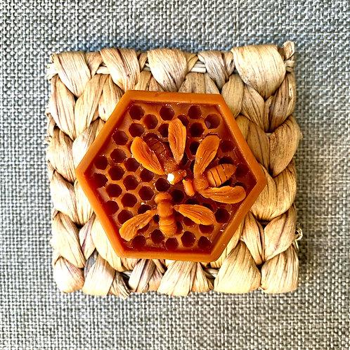 Bee's pentagon (brown)