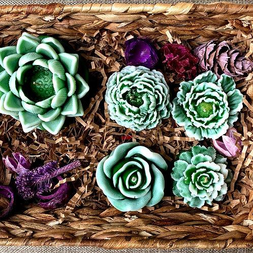 Flower fantasy (marble green)