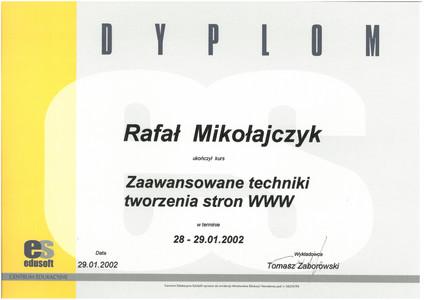 14.Certyfikat ES Zaawansowane techniki twrzenia stron www.jpg