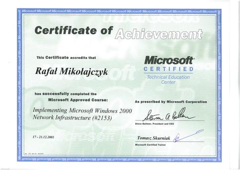 13.Certyfikat Microsoft Network Infrastructure.jpg