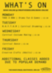 CH WHAT'S ON FLYEr - ADDITIONAL CLASSES.
