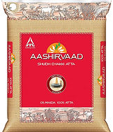 Ashirwad Whole wheat chakki atta 11lbs.j
