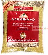 Ashirwad Whole Wheat Chakki Atta 22Lbs2.