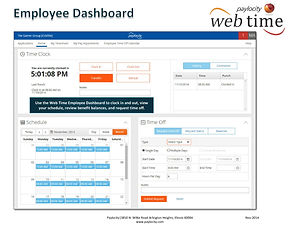 Web Time Employee Dashboard Quick Refere