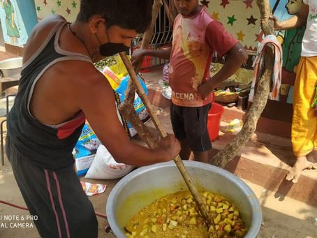 NBV unterstützt Essensausgabe in Jharkhand
