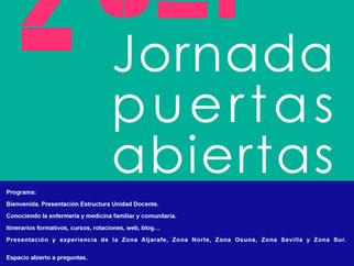 Jornada Puertas Abiertas 2021 - UDMAFyC de Sevilla