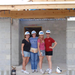 Kate Volunteering for MPI at Habitat for Humanity