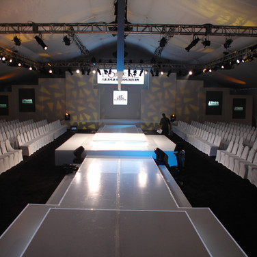 Conference in Tent on Beach Fashion Runway