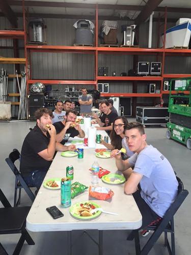 J. Thor Team Enjoying Cookout